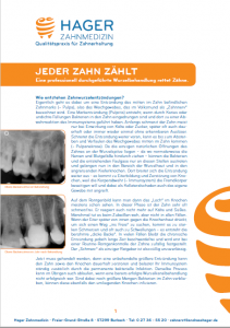 Download Information Endodontie, Wurzelbehandlung