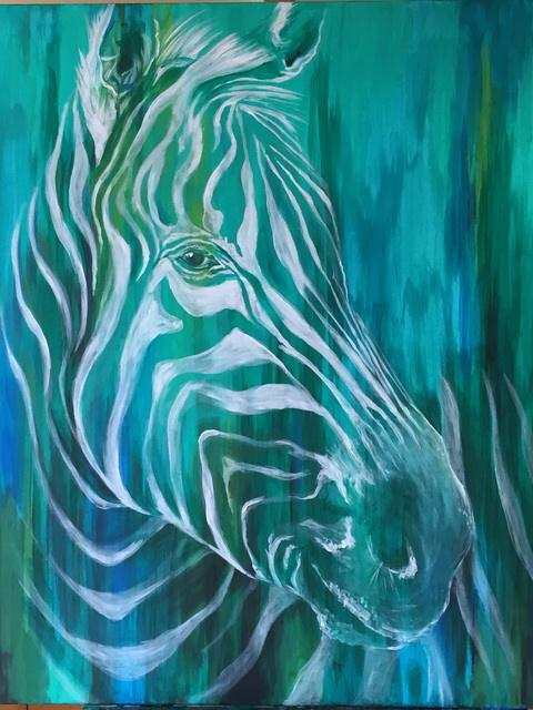 Zebra Acrylmalerei Janine Moses