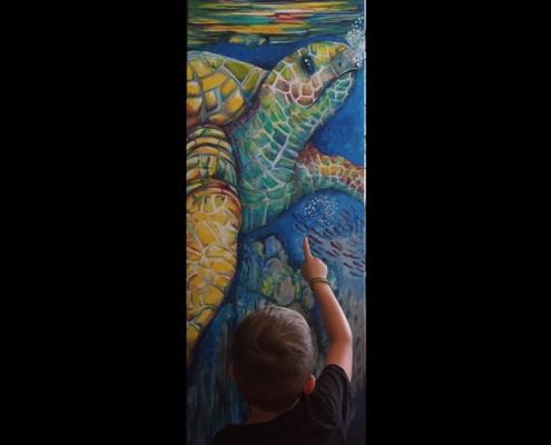 Acrylgemälde Schildkröte,Janine Moses