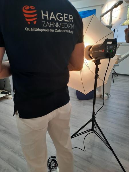 Making of der Praxisbilder Andreas Hager, Zahnarzt Burbach - ein bisschen Eigenwerbung ist erlaubt